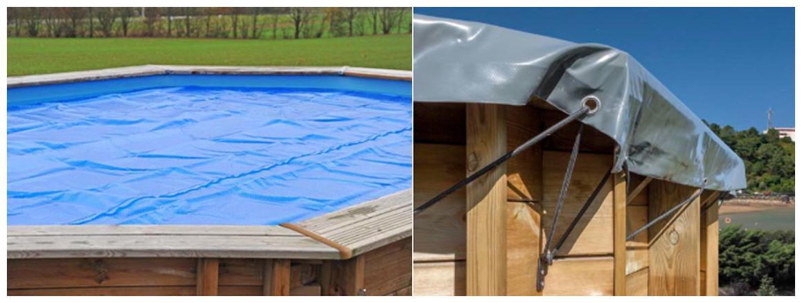 couverture de la piscine bois woodfirst original octogonale allongée