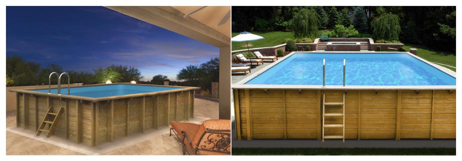 kit piscine bois Woodfirst Original - mise en situation