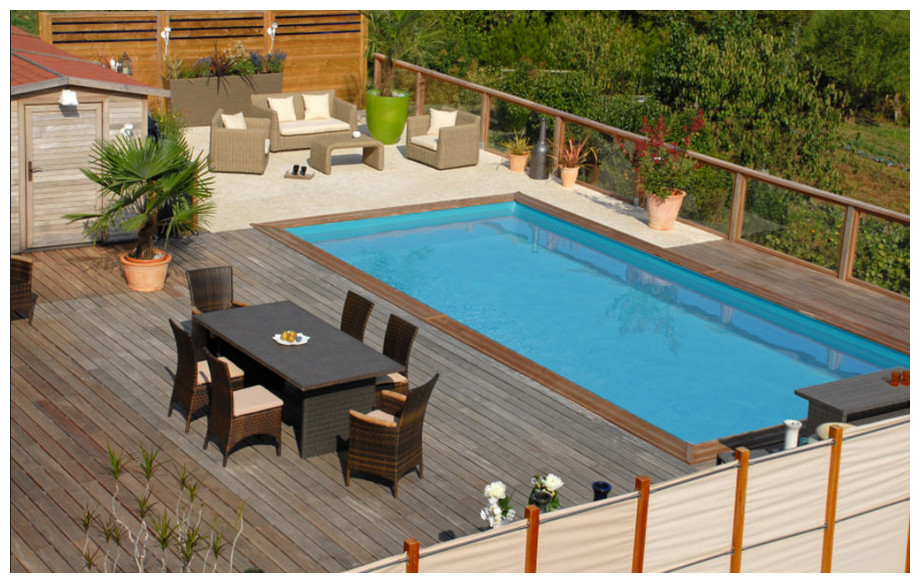 piscine bois rectangulaire Woodfirst Original 600x400x133cm en situation
