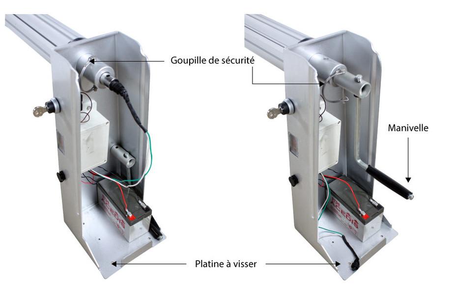 Enrouleur motorisé à batterie avec télécommande - 4 à 7 m