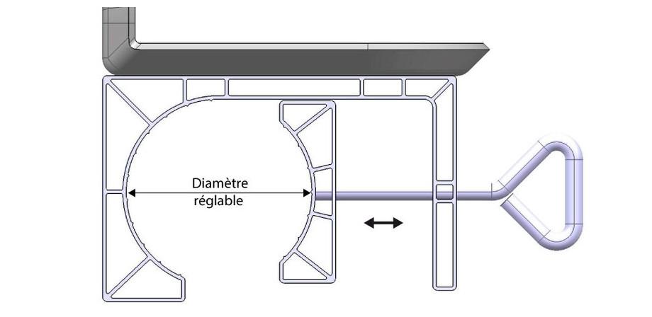 Enrouleur aluminium à pinces pour bâches été piscines hors-sol