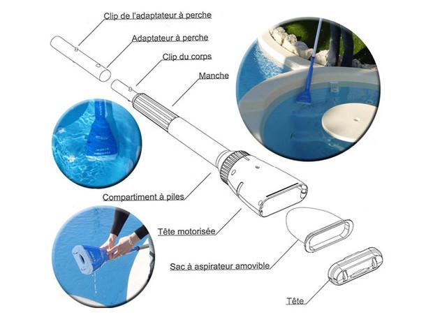 aspirateur autonome aqua broom pour petite piscine et spa piscine center net. Black Bedroom Furniture Sets. Home Design Ideas