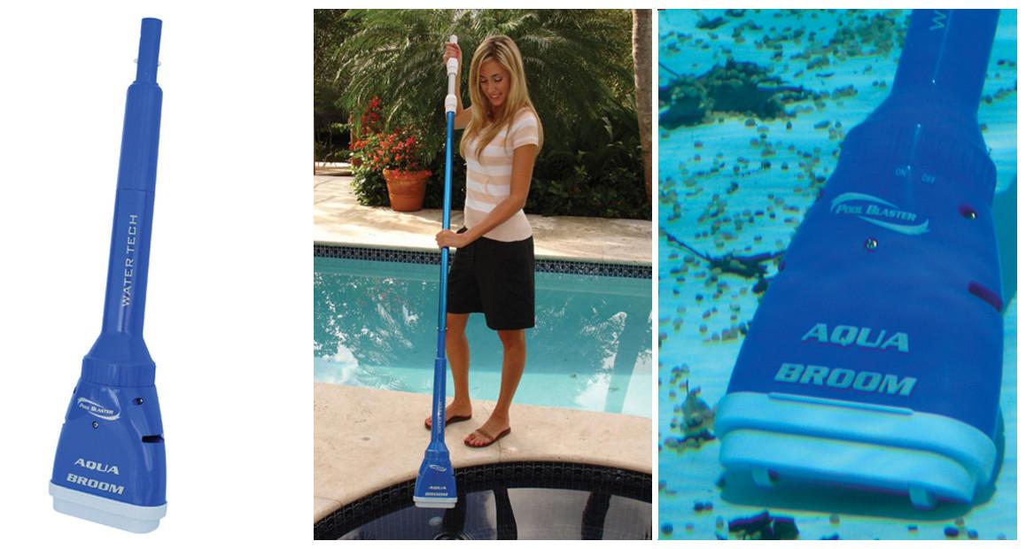 aspirateur de piscine et spa poolblaster Aquabroom en situation
