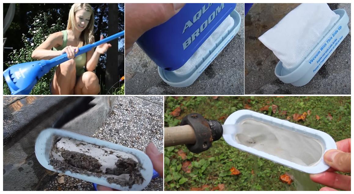 filtration de l'aspirateur Aquabroom pour piscine et spa