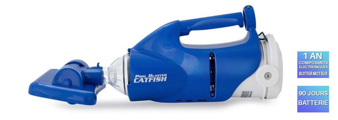 garantie de l'aspirateur pour piscine et spa catfish poolblaster