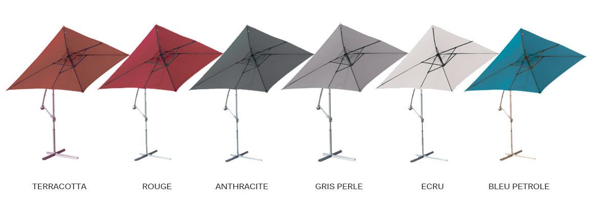 coloris du parasol déporté super king 300 x 200 cm