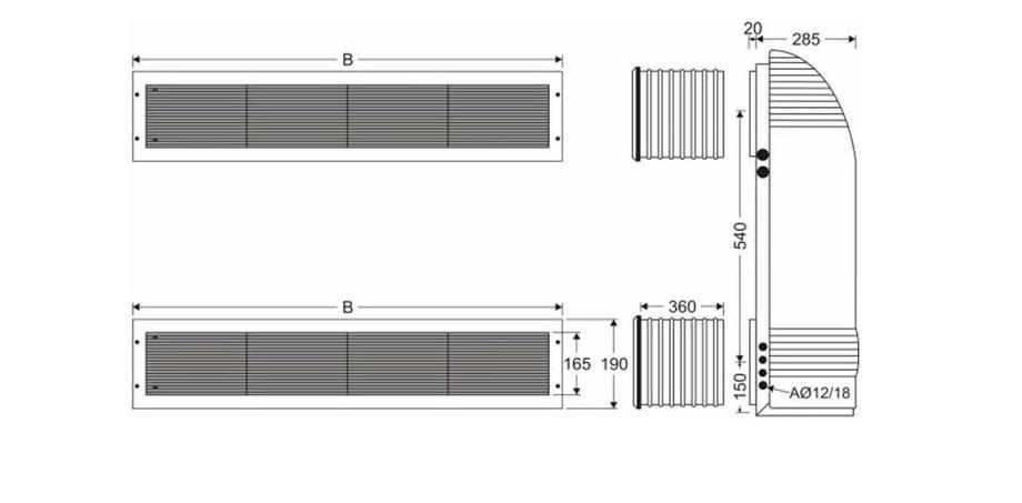 dimensions du déshumidificateur piscine encastré Zodiac Sirocco en situation