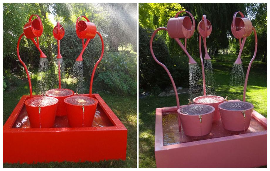 Fontaine de jardin Léopold XXLROSE et rouge