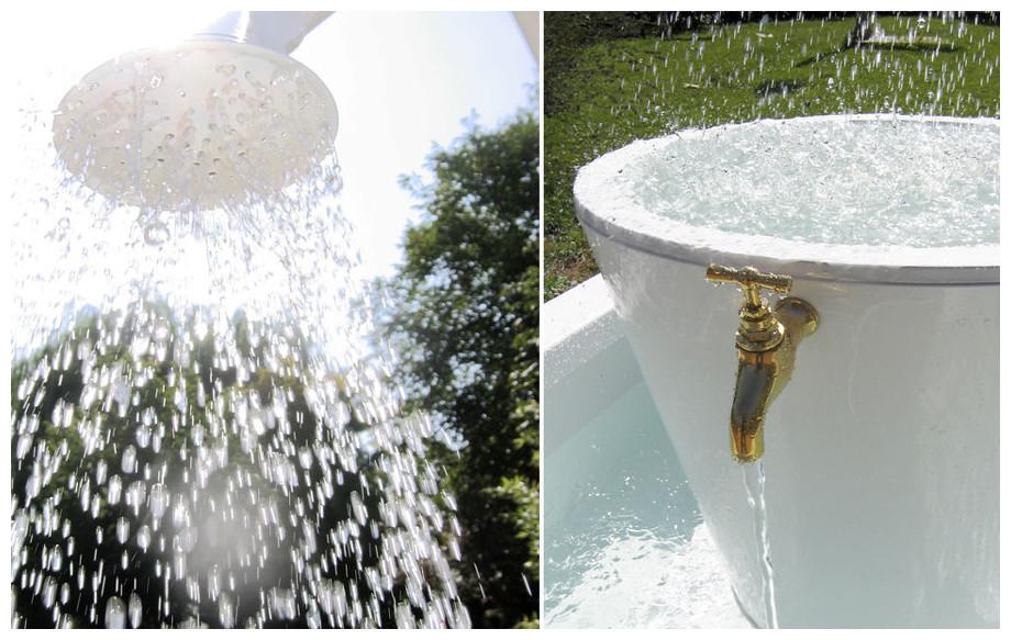 ruissellement d'eau de la fontaine Léopold