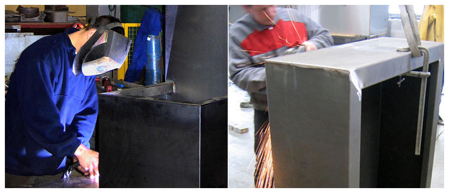 soudure et fabrication de la fontaine de jardin Léopold