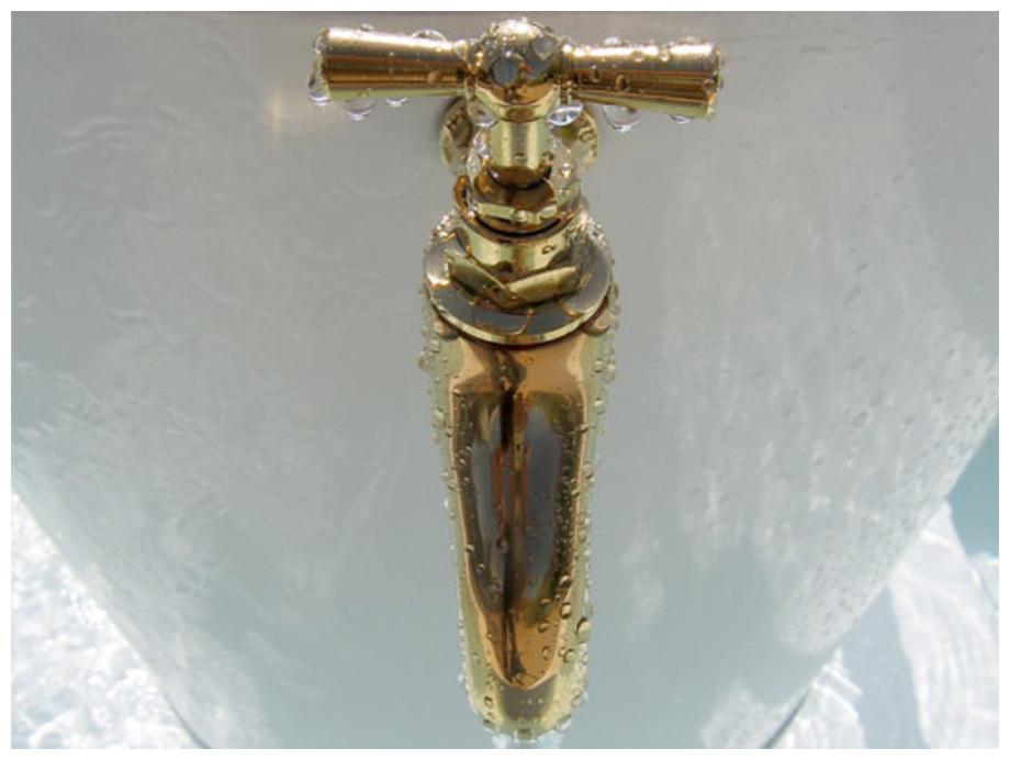 robinet en laiton de la fontaine d extérieur Léopold