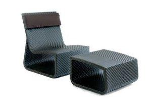 fauteuil et pouf summertime chair chocolat