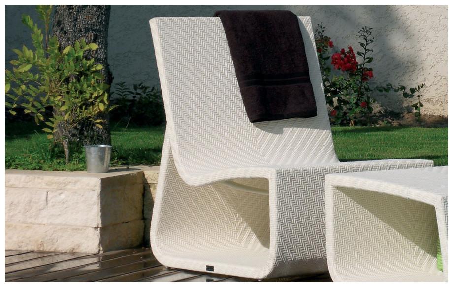 fauteuil de jardin summertime chair blanc