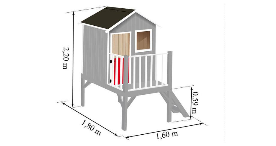 Dimensions de la maisonnette Louise Soulet