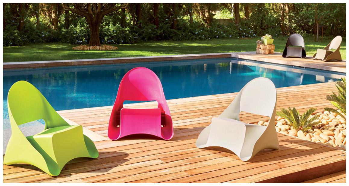fauteuil de jardin polypropylène monobloc ondule par hémisphere en situation