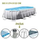 piscine hors sol intex ovale 503 par 274 par 122 cm