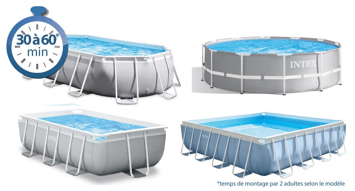 montage piscine hors sol prism frame intex