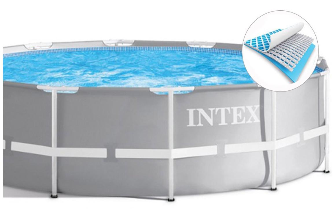 structure de la piscine hors sol intex prism frame