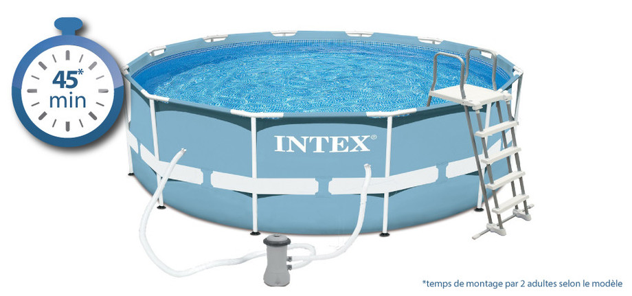 Piscine tubulaire intex prism frame piscine center net for Piscine center