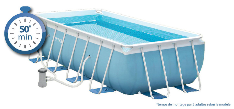 Piscine tubulaire intex prism frame piscine center net for Montage piscine intex