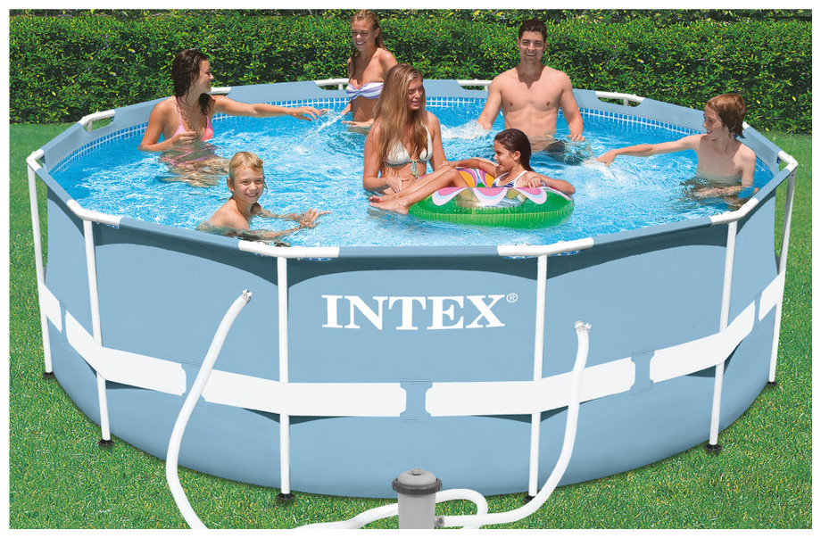 Intex piscine prism frame tubulaire pas ch re piscine for Piscine 3 boudins intex