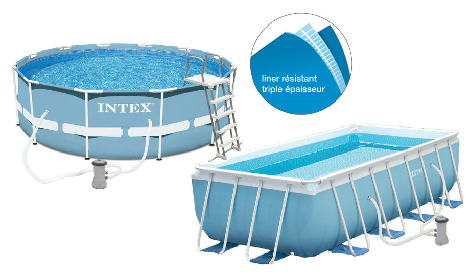 Intex piscine prism frame tubulaire pas ch re piscine for Calcul volume piscine ronde