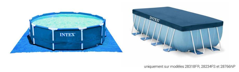 Prism Frame par Intex - Piscine tubulaire hors-sol en kit - bache et tapis