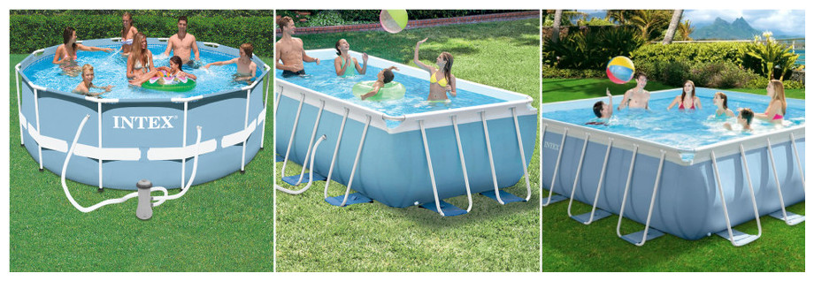 Piscine tubulaire intex prism frame piscine center net for Piscine tubulaire 1 22