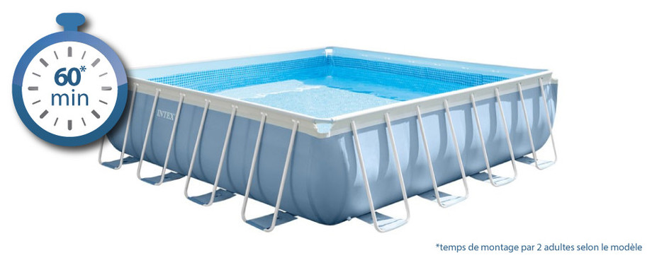 Piscine tubulaire Prism Frame Intex - dimensions