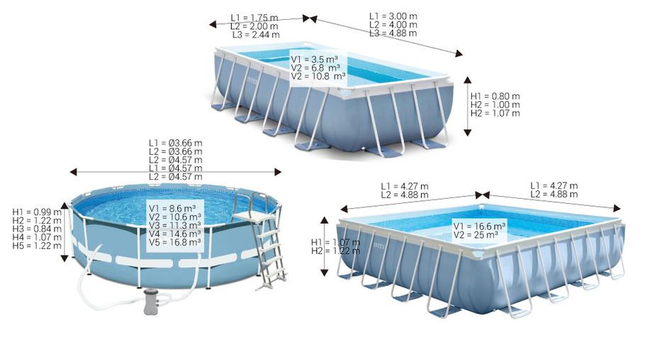 piscine tubulaire intex prism frame piscine center net. Black Bedroom Furniture Sets. Home Design Ideas