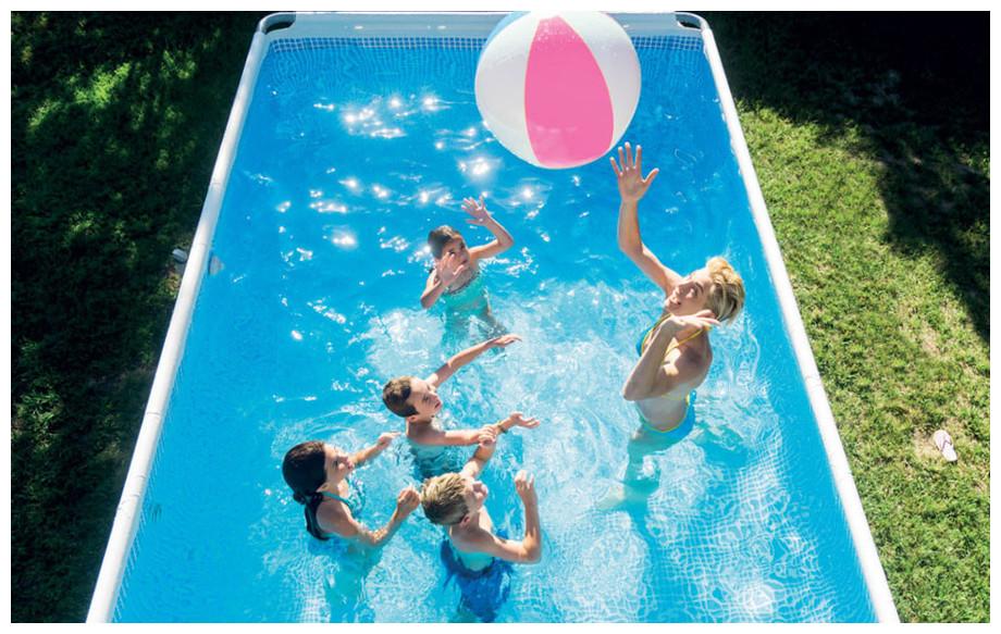 piscine hors sol intex prism farm en situation
