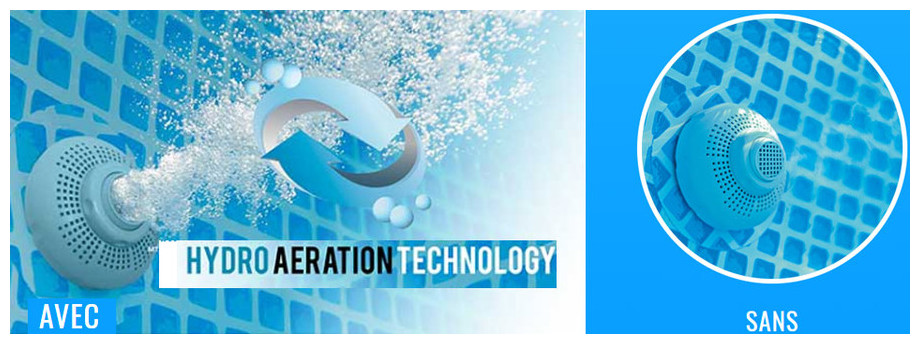 technologie hydro aération intex