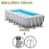 caractéristiques piscines tubulaire intex rectangle 400x200x100