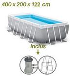 caractéristiques de la piscine hors sol tubulaire rectangle prism frame 4x2x122