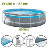 descriptif de la piscine clear window prim frame intex