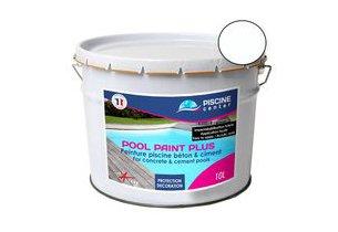 Couleur blanche de la peinture Pool Paint Plus pour piscine