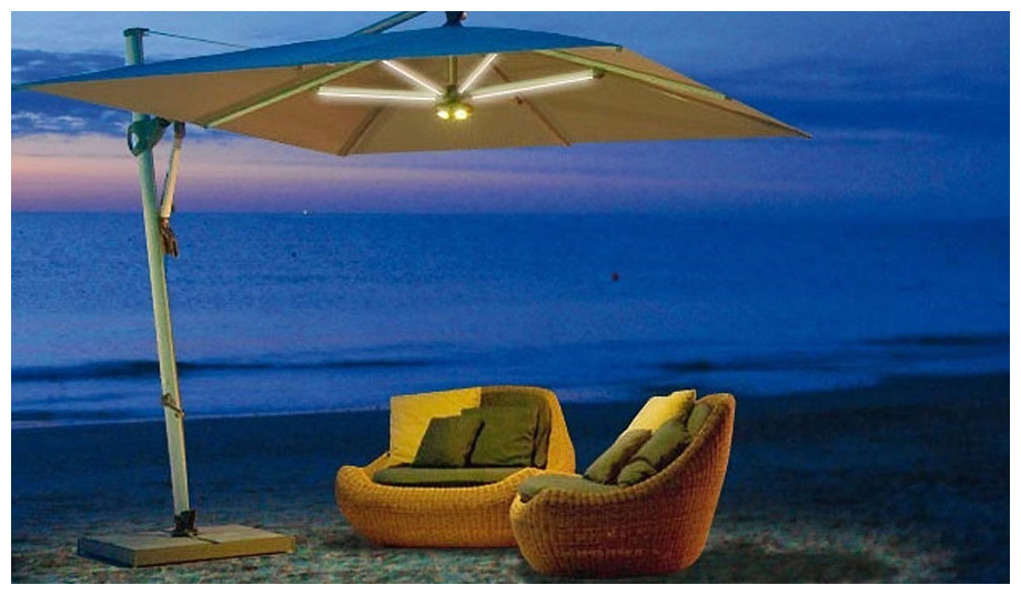 kit lampe led sans fil pour parasol jardin. Black Bedroom Furniture Sets. Home Design Ideas
