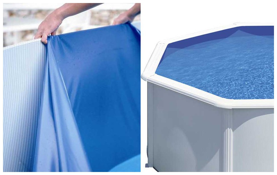 Liner gr bleu 20 100 pour piscine hors sol piscine for Piscine center
