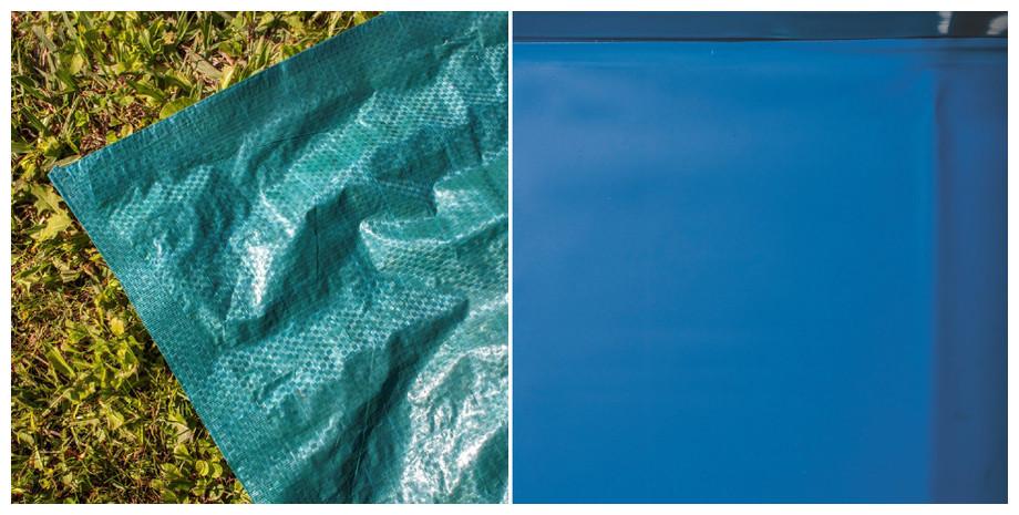 Piscine hors-sol Gré Java aspect rotin - tapis de sol et liner 30/100