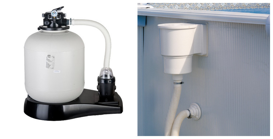 Piscine hors-sol Gré Java aspect rotin - filtration