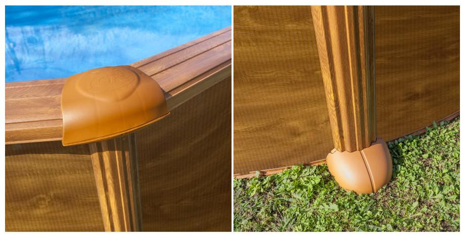 piscine hors sol gr aspect bois finitions - Piscine Hors Sol Metal Aspect Bois