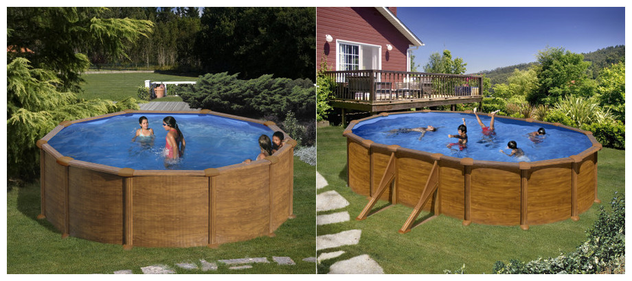 piscine gr hors sol aspect bois montage facile piscine center net. Black Bedroom Furniture Sets. Home Design Ideas