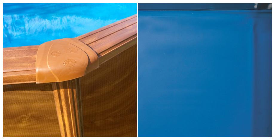 Kit piscine gr h120 ou h132 mod le aspect bois pas cher for Piscine hors sol beton aspect bois