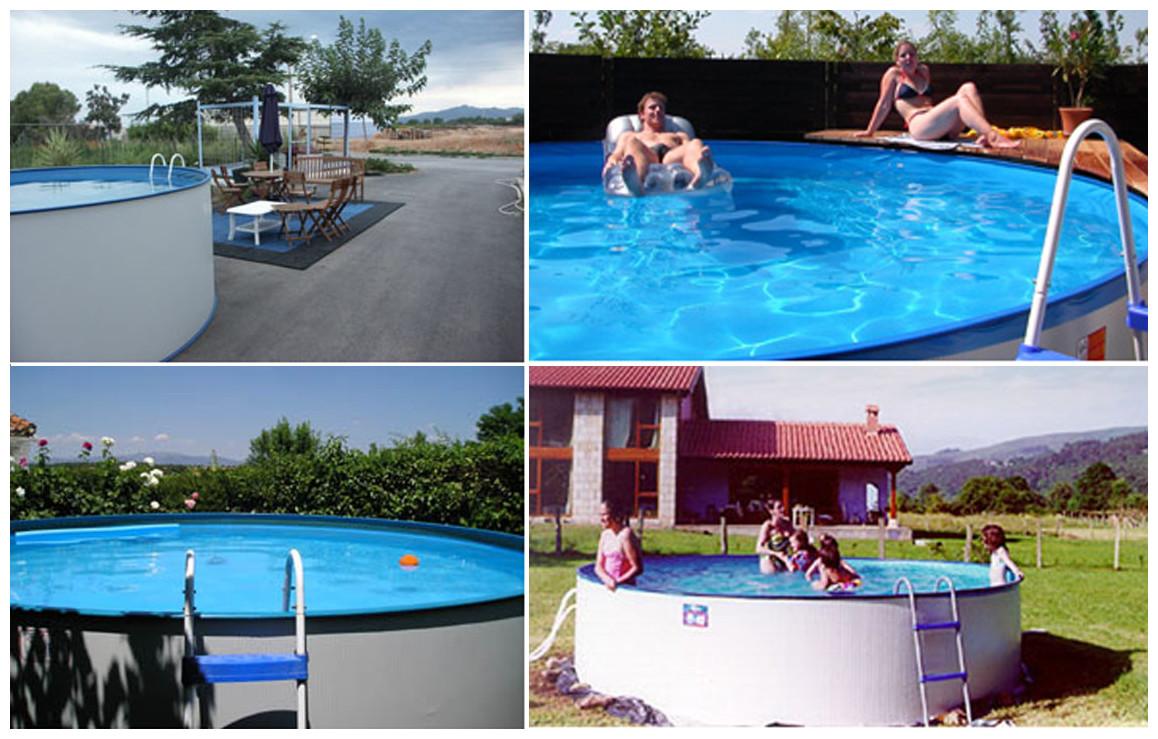 photos de la piscine hors sol en acier ténérife lanzarotte par gré