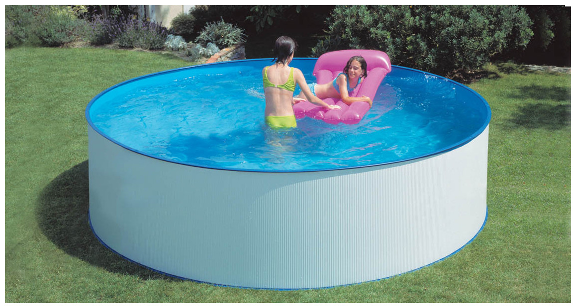 piscine hors sol en acier splasher par gré en situation