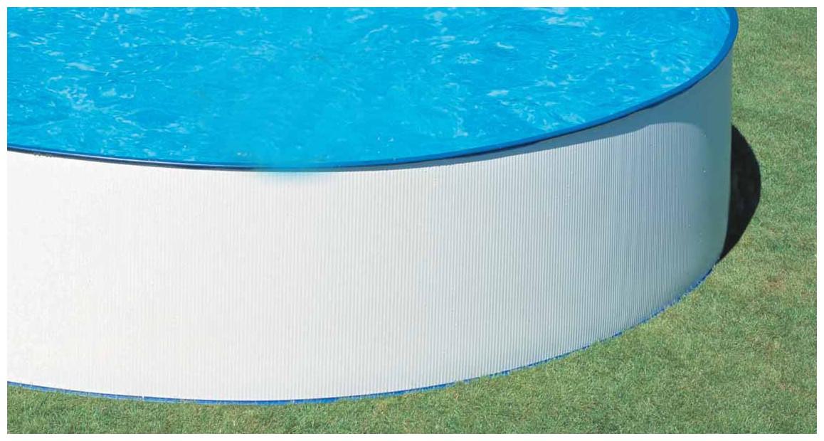 structure de la piscine hors sol en acier splasher gré