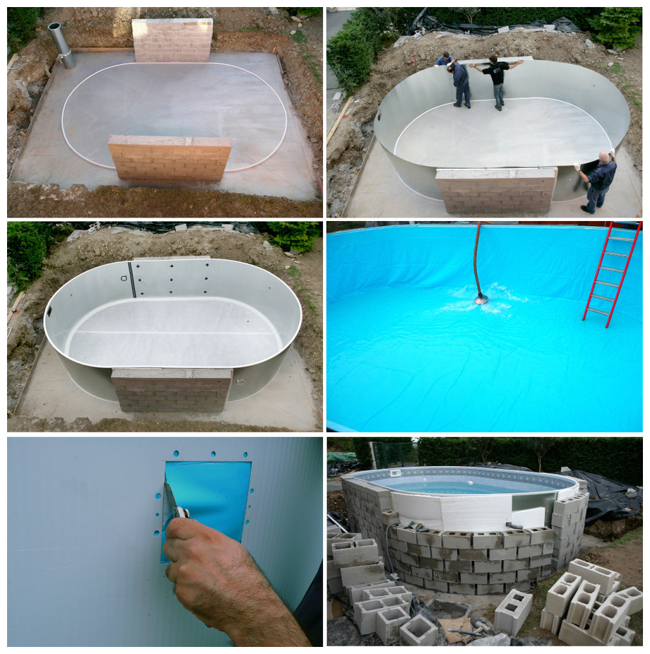 Piscine enterr e en kit tout quip e gr h120 cm piscine for Piscine kit enterree