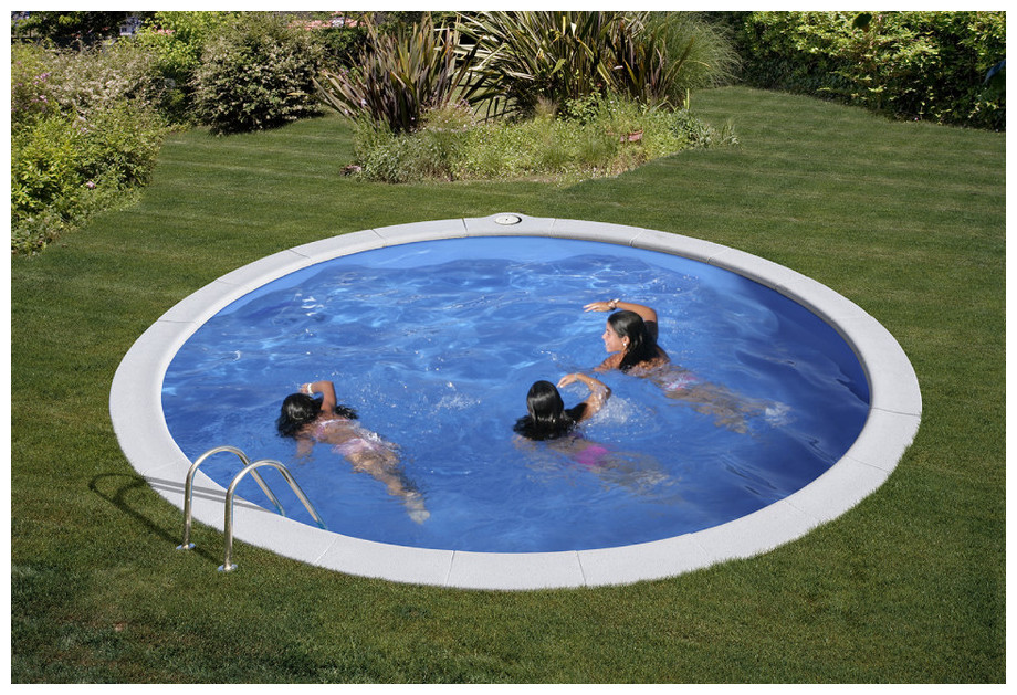 Piscine enterr e en kit tout quip e gr h120 cm piscine for Piscine kit acier