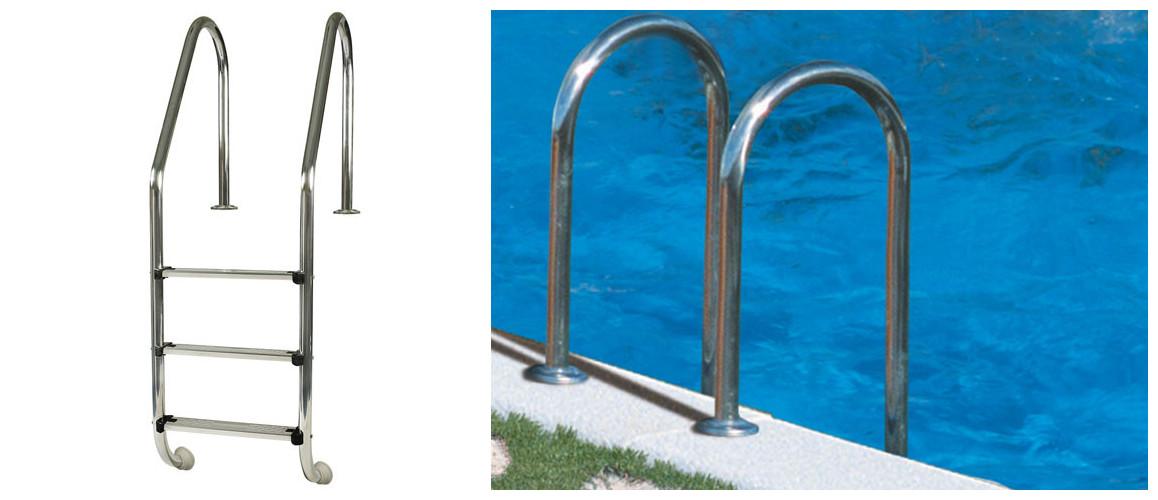 échelle d'accès de la piscine en acier enterrée sumatra par gré