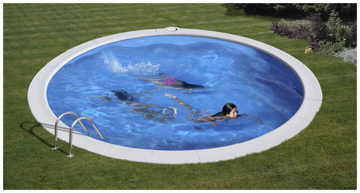 piscine en acier enterrée gré en situation